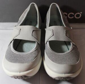 ECCO Biom Life Mary Jane Wome's Sneakers, Concrete, Size U.S. 9/9.5, 20012543