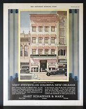 1931 Hart Schaffner & Marx Stevens Men's Store Canal Street New Orleans Print Ad