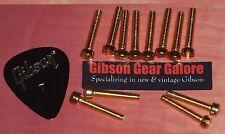 Gibson Les Paul Pole Pieces Pickup Screw Set Gold Guitar Parts 12 Screws Custom