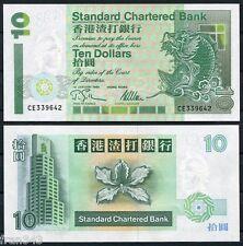 HONG KONG SCB Standard Chartered Bank 10 Dollars 1995  Pick 284b  SC /  UNC