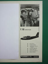 1960 PUB PIAGGIO GENOVA AVION P.166 BIMOTEUR AIRCRAFT ORIGINAL FRENCH ADVERT