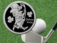 IRISH GOLF Ball Marker w' NAME! Good Luck Gift for Golfer, Leprechaun
