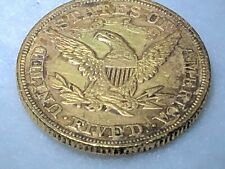 1880 $5 90% Gold Us Half Eagle Coin, Coronet Type Five Dollar Piece