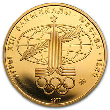 1977 Russia 100 Rouble Gold Coin - 1980 Olympics - Proof or Uncirculated
