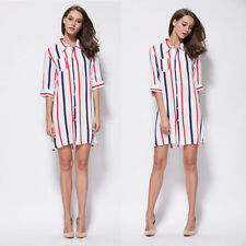 Striped Polyester Blouse Plus Size for Women