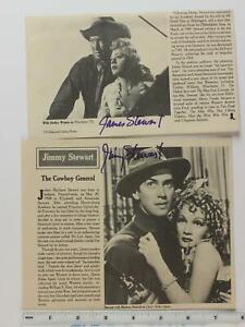 LOT of TWO JAMES STEWART (1908-1997) AUTOGRAPH MAGAZINE PHOTOGRAPHS~