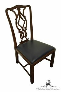 THOMASVILLE FURNITURE Mahogany Traditional Chippendale Style Dining Side Chai...