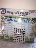 Children's Reward Behaviour Charts With Star Stickers NEW Monkey Zoo  Toilet