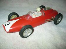 Vintage MARX Red Lotus Ford 1/18 Scale plastic Race Car Friction