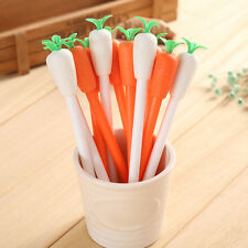 Cartoon Carrot Shape Erasable Gel Ink Ball Point Ballpoint Pen Student Office