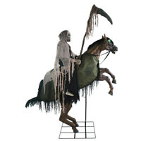 Halloween LIFESIZE REAPERS ANIMATED HORSE RIDE PROP DECOR W/ STEP HERE PAD FREE