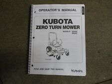 Kubota ZG222 ZG227 ZG 222 227 ZTR Mower owners & maintenance manual