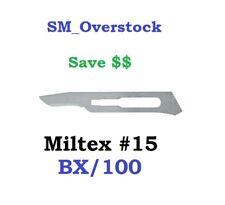 INTEGRA MILTEX 4-115 #15 Carbon Steel Surgical Blades 100/BX Sterile Kai Medical