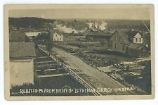 RPPC Town of RICKETTS PA Ghost Town! Glen Sullivan County Real Photo Postcard