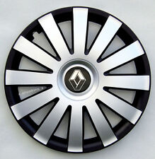 "Brand New silver/black  15"" wheel trims to fit Renault Scenic, Megane, Kangoo"