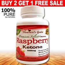 RASPBERRY KETONE WEIGHT LOSS DETOX 1000mg 100% PURE BUY 2 GET 1 FREE