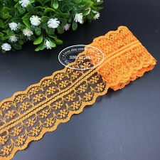 HB001J 12 Yard Bilateral Handicrafts Embroidered Net Lace Trim Ribbon wholesale