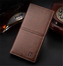 Fashion Mens Bifold Leather Wallet Credit Card Holder Billfold Clutch Purse