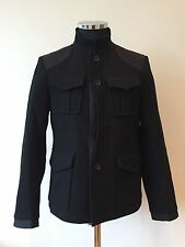 PETER WERTH MENS MILITARY JACKET - APPS - BLACK - MEDIUM - RRP £169  *BNWT*