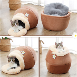 3 Type Pet Bed Cat Dog Cozy Soft Nest Kennel Cave Winter Warm House Sleeping Bag