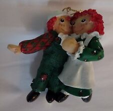 "Exclusive Black Friday 1998 Target Raggedy Ann and Andy 3"" Resin Ornament Resin"
