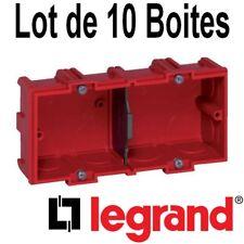 Legrand LEG90506 Bo/îte dencastrement 2 postes Batibox multi mat/ériaux Profondeur 50 mm