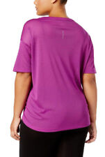 NIKE Womens Dry Miler Active Top Running Shirt Berry Plus Size 1X 4242-3
