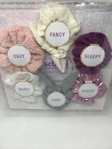 Scunci Hair Scrunchie Gift Set - 6 Assorted Scrunchies NEW