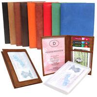 Ausweismappe mit Sichtfenster Ausweisetui Kartenetui Damen Herren 9 Farben