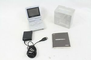 Nintendo Gameboy Advance SP game console silver box Tested  Working  japan