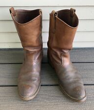 Vtg RED WING PECOS Leather WORK Motorcycle BOOTS sz 10 10.5 Made In USA Biker