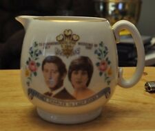 Royal Wedding Pitcher Princess DIana Prince Charles July 29 1981 Made In England