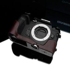New GARIZ XS-CHEM1IIBR Genuine Leather Half Case Cover Brown For Olympus E-M1 II
