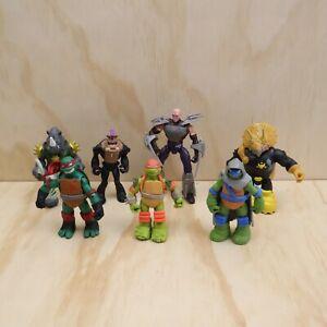 7 x Teenage Mutant Ninja Turtles Action Figures 2012 2013 2014 2015