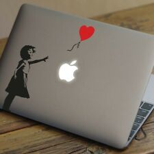 "BANKSY BALLOON Apple MacBook Decal Sticker fits 11"" 12"" 13"" 15"" and 17"" models"