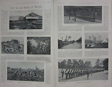 1898 BOER WAR ERA PRINT ~ 2nd BATTLE OF MANILA CALIFORNIA INFANTRY MARINES