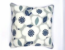 ELEGANT FLORAL PATTERN  CUSHION COVER  IN BLUE SIZE-43X43cms