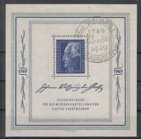 CU7635/ GERMANY SOVIET ZONE – GOETHE - BLOCK MI # 6 USED – CV 355 $