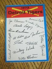1973 OPC O Pee Chee Team Checklists - Detroit Tigers Al Kaline MIckey Lolich ZB0