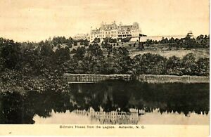 Early 1900's Biltmore House from the Lagoon at Asheville, NC North Carolina PC