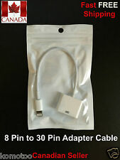 30 Pin to 8 Pin Lightning Dock Connector Adapter Cable For iPhone, iPad, iPod