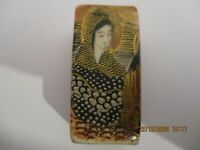 """ANTIQUE JAPANESE VASE , MINIATURE 5 CM -2"""" HEIGHT , HAND PAINTED IMMORTALS"""