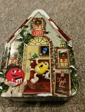 M & M Candy Collectible Christmas Tin #15 Tea House 2002 Limited Edition