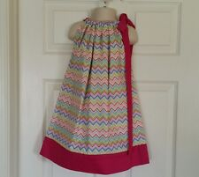 Kids Children Girls clothing  Pillowcase Dress. Handmade size 4 T. Ready to ship