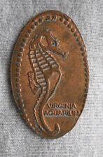 Virginia Aquarium elongated penny VA USA cent Seahorse souvenir coin