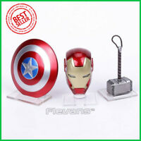Avengers Iron Man MK43 LED Light Base Helmet Captain America Shield Thor Hammer