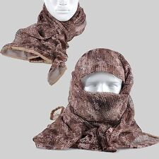Desert Digital Camo Tactical Mesh Scarf Wrap Face Cover Mask Shawl Sniper Veil