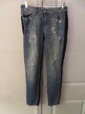 WOMENS IRO JEANS BLUE,BLACK DISTRESSED SKINNY JEANS SIZE 25