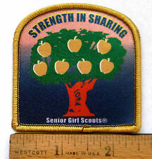 Girl Scout SENIOR - STRENGTH IN SHARING PATCH Philanthropy Apple Tree Badge NEW