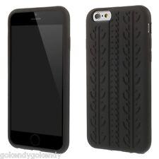 "iPhone 6 iPhone 6S 4.7"" Black Anti-skid Tyre Design Soft Silicone Cover Case"